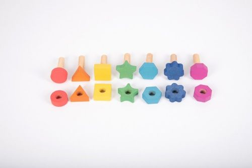 Rainbow Wooden Nuts & Bolts 7pk